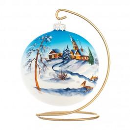 Sfera DI Natale in Vetro Soffiato