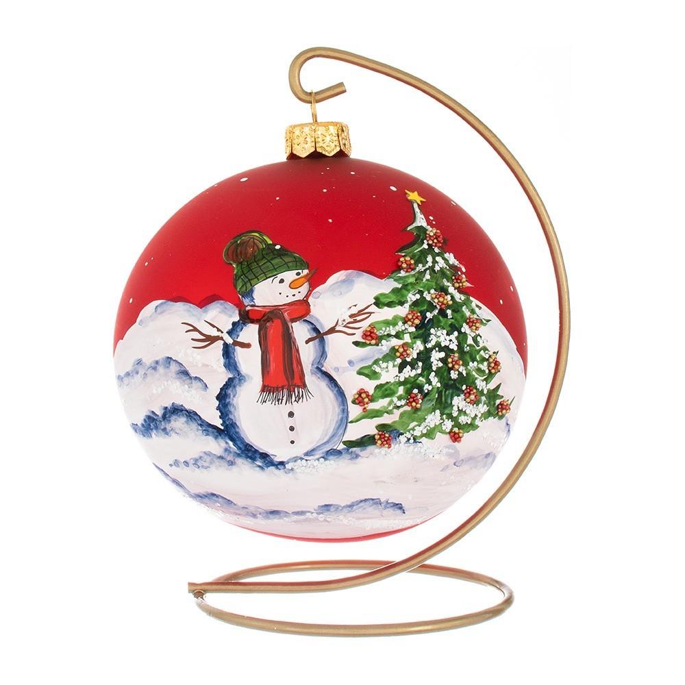 Palla Rossa per Albero di Natale