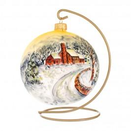 Pallina di Natale in Vetro Oro