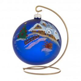 Pallina di Natale in Vetro Blu