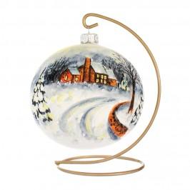 Palla di Natale in Vetro Bianco