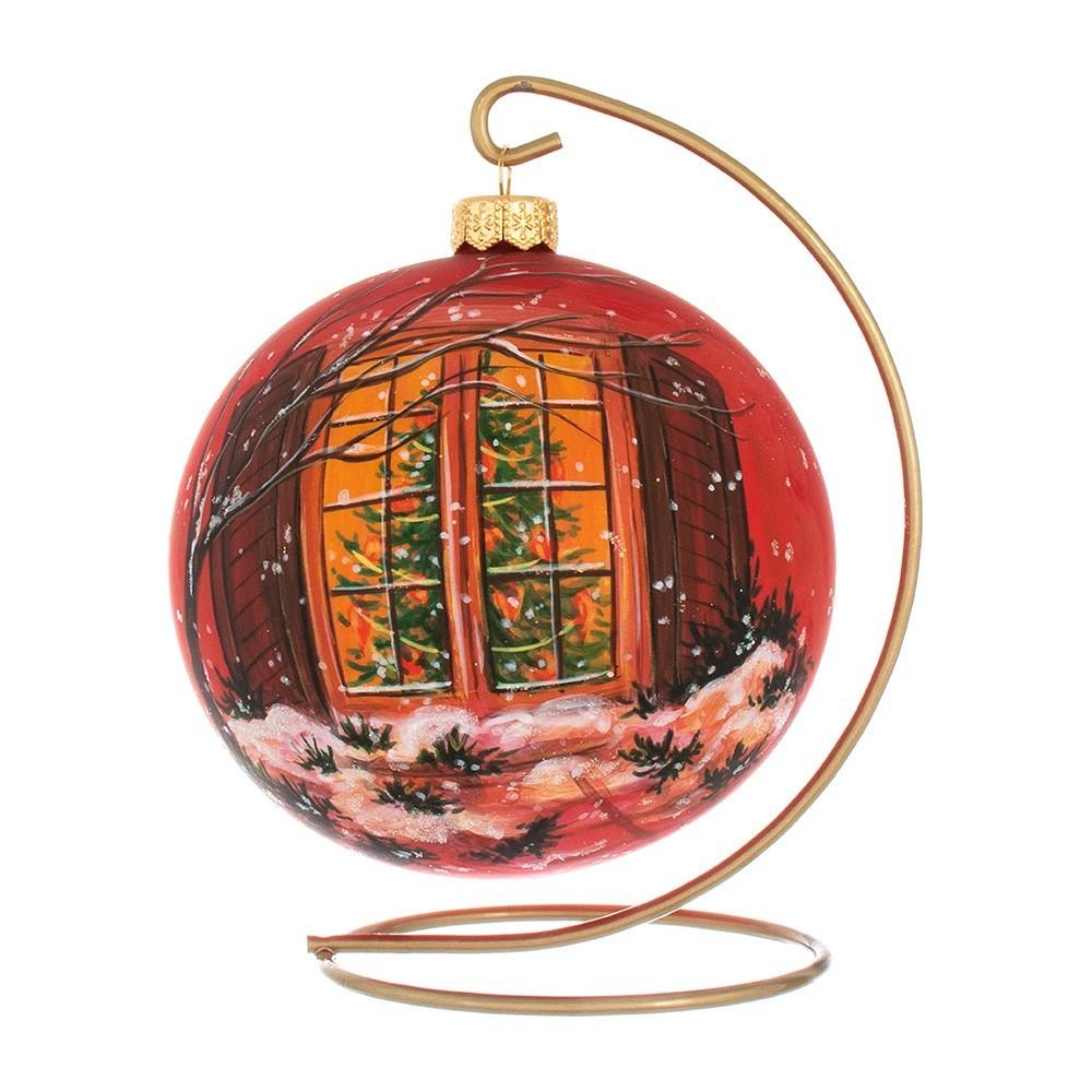 Palla di Natale in Vetro Rossa