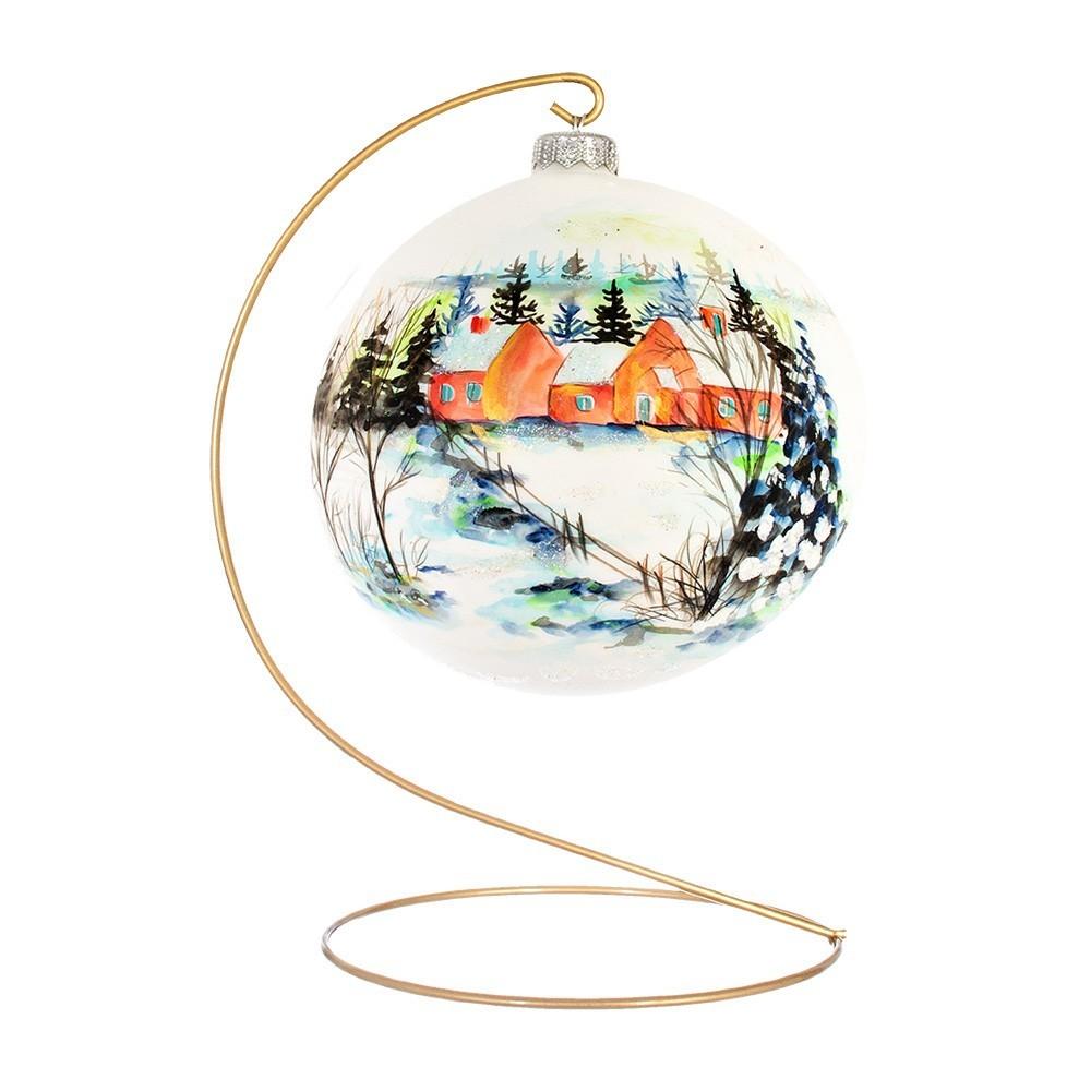 Palla Natalizia In Vetro Ø 15 cm