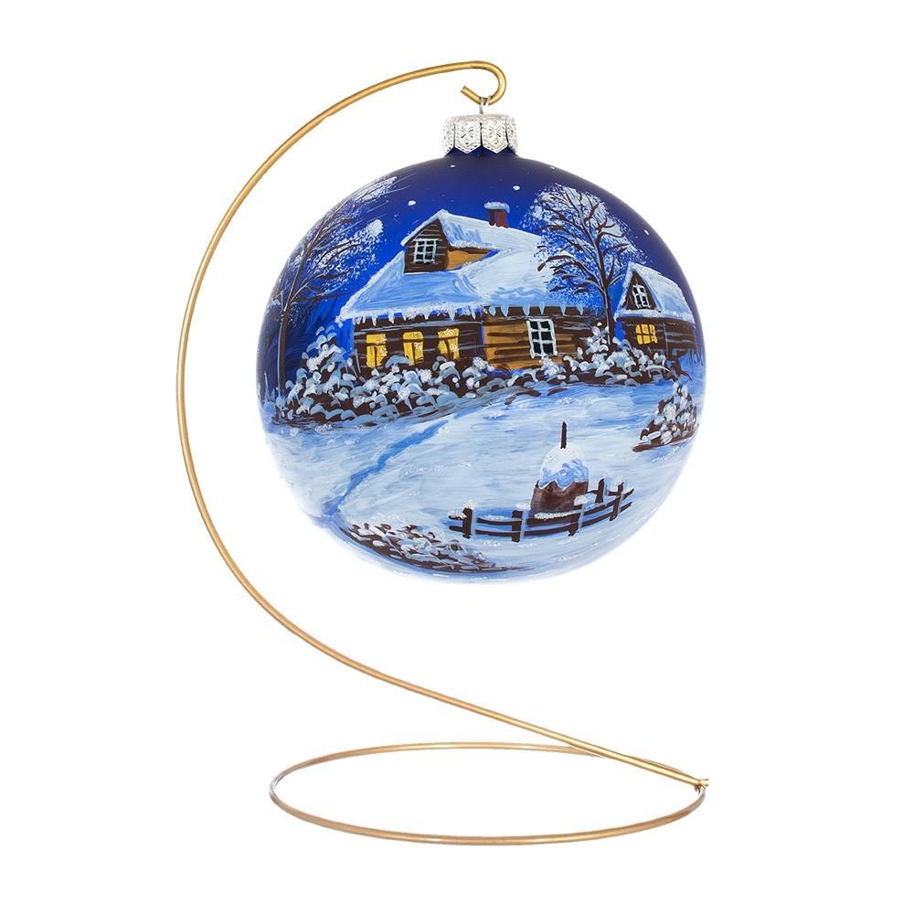 Palla Natalizia Paesaggio con Neve