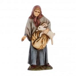 Donna con Coniglio Landi 10 cm
