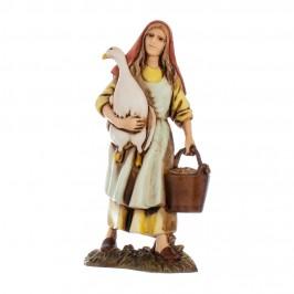 Donna con Oca Landi 10 cm