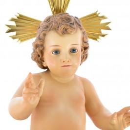 Statua Gesù Bambino Occhi celesti