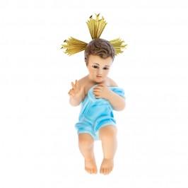 Statua Gesù Bambino con Panno Azzurro