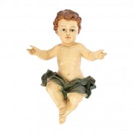 Gesù Bambino In Resina Occhi Celesti