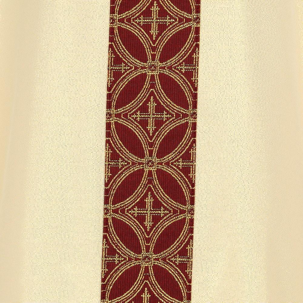 Casula Liturgica Avorio e Rossa