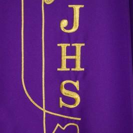 Casula con Ricamo JHS e Spighe
