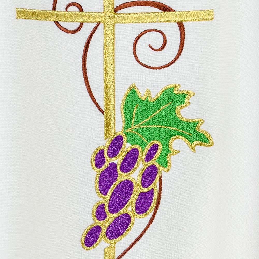 Casula Ricamo Croce Calice e Uva