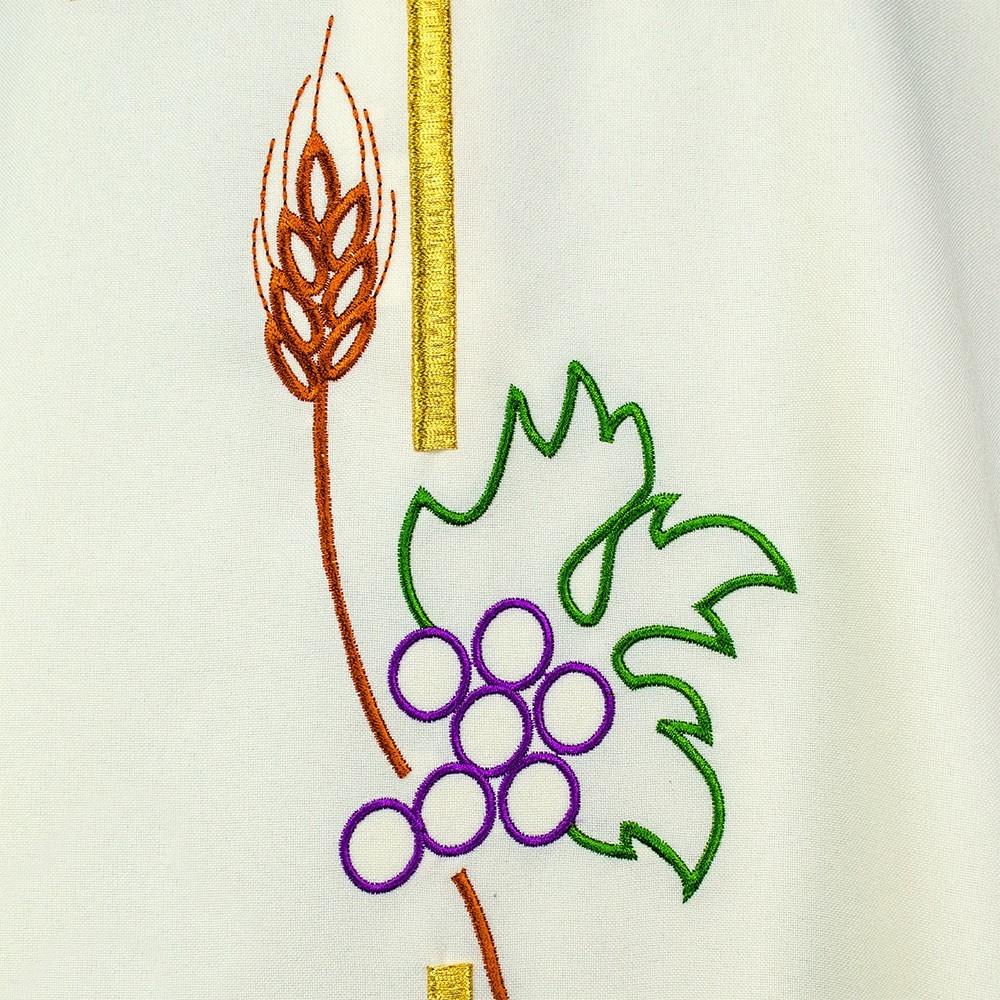 Casula con Ricamo Croce Spiga e Grappolo d'Uva