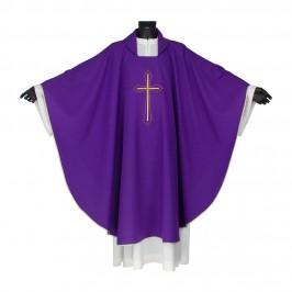 Casula Sacerdotale con Croce Ricamata