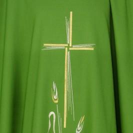 Casula in Poliestere con Croce e Spighe