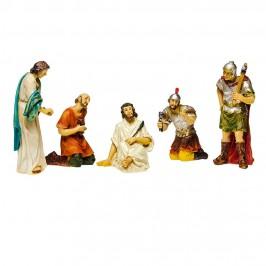 Set 5 Figure per il Presepe della Passione