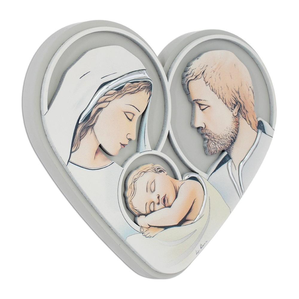 Quadretto Cuore Sacra Famiglia