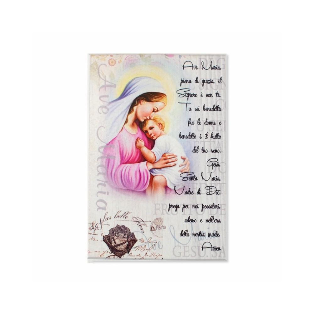 Quadretto in Legno Ave Maria