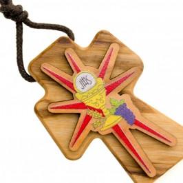 Croce Comunione in Legno d'Ulivo