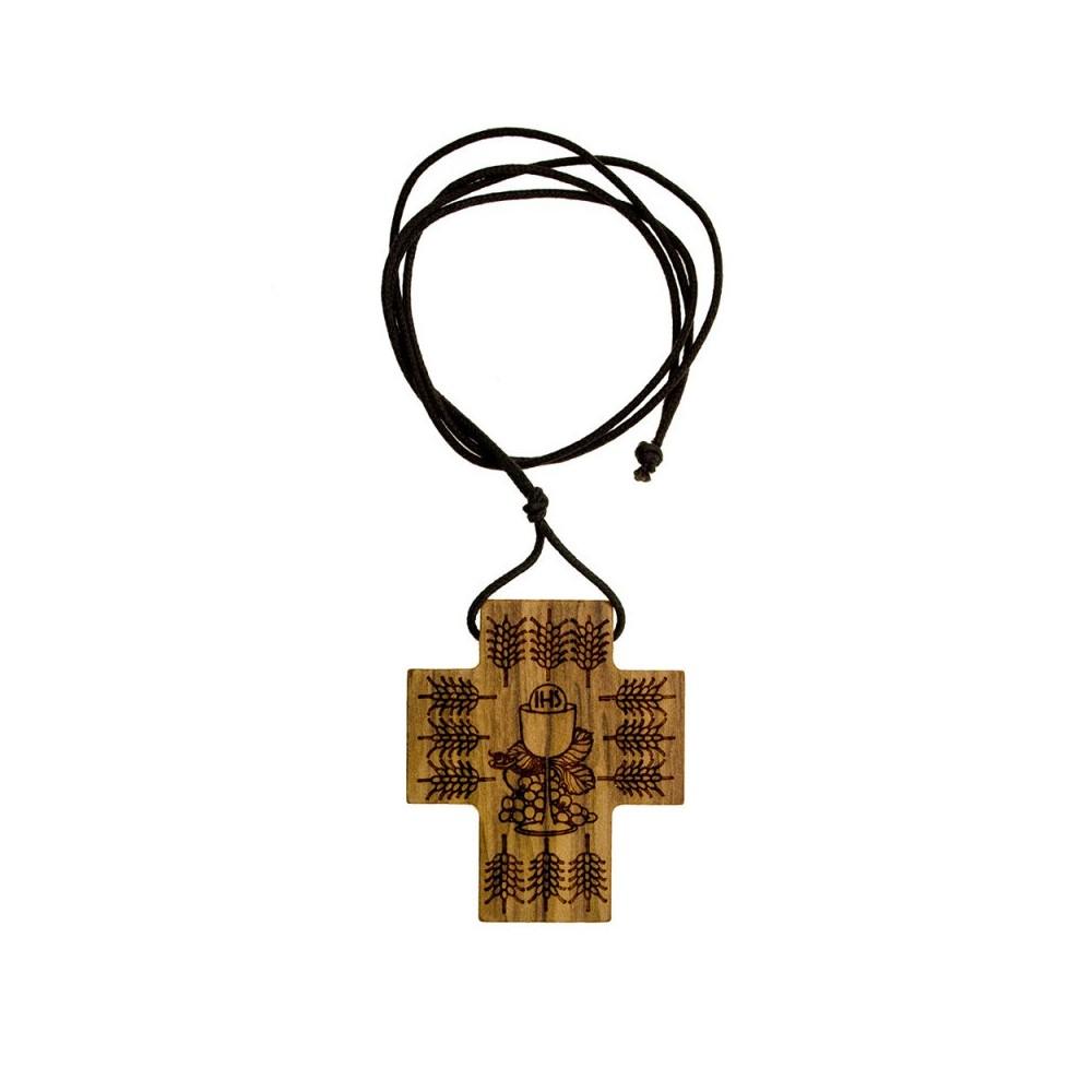 Croce Ulivo con  Calice e Spighe