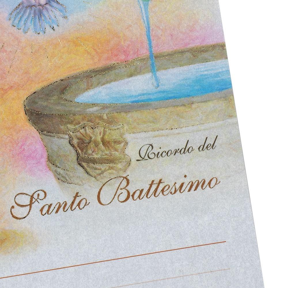 Pergamena per il Battesimo
