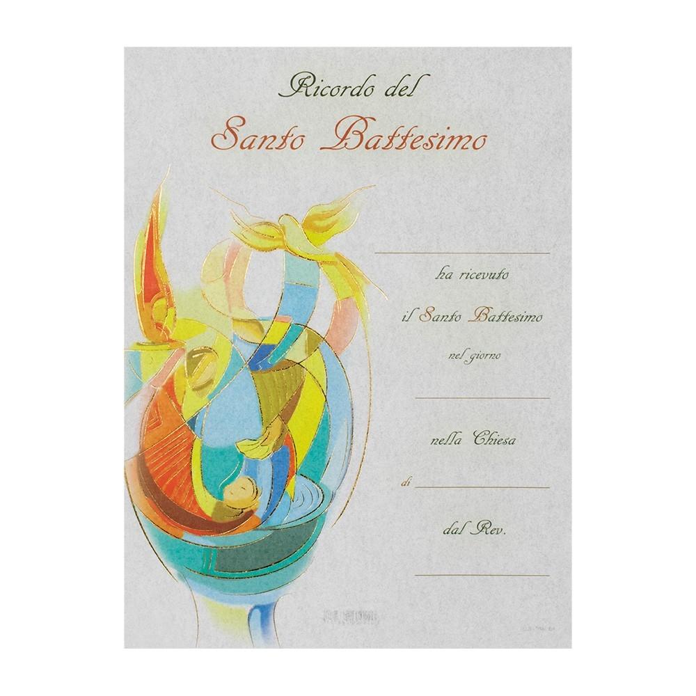 Pergamena per il Santo Battesimo