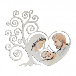 Quadro Albero della Vita e Sacra Famiglia