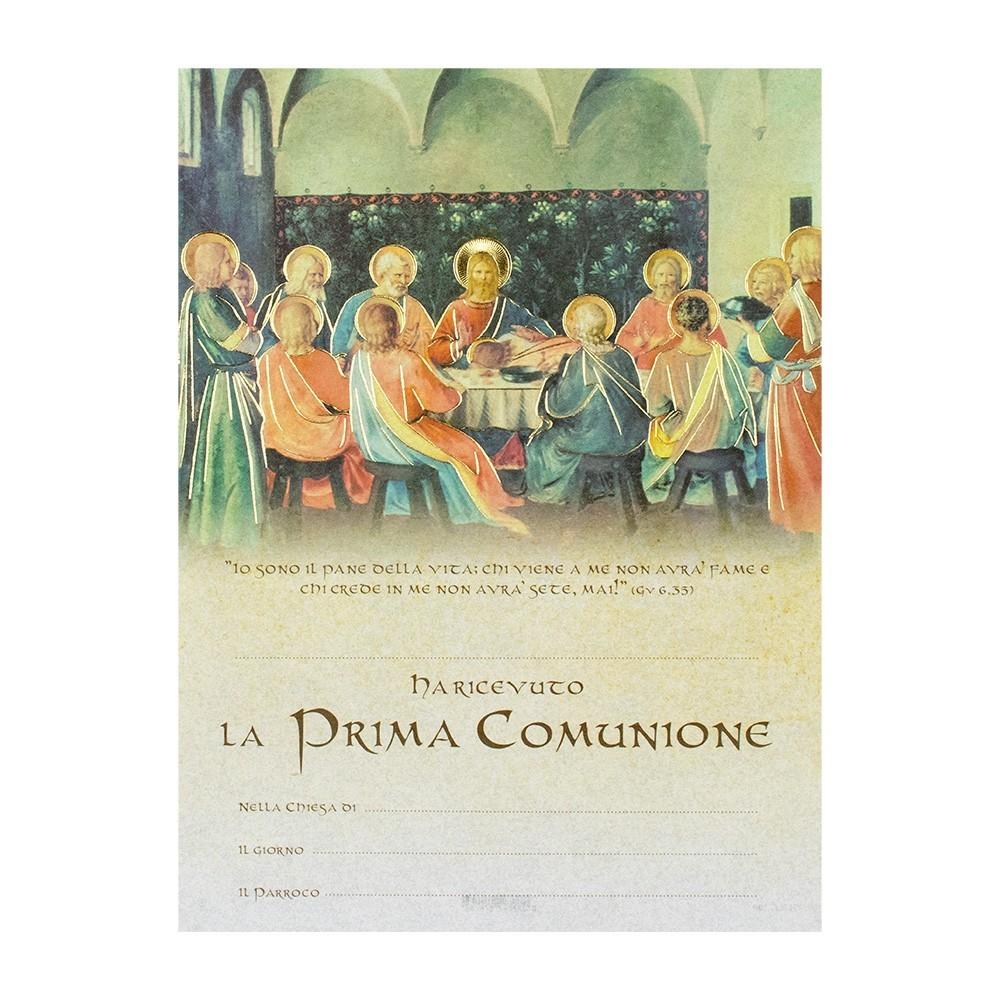 Pergamena per Comunione