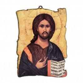 Quadretto Legno Gesù Pantocratore