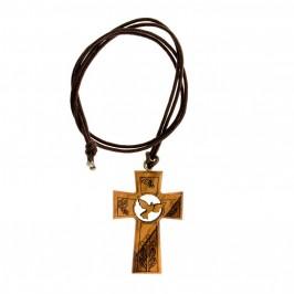 Croce Legno Ulivo per Comunione e Cresima