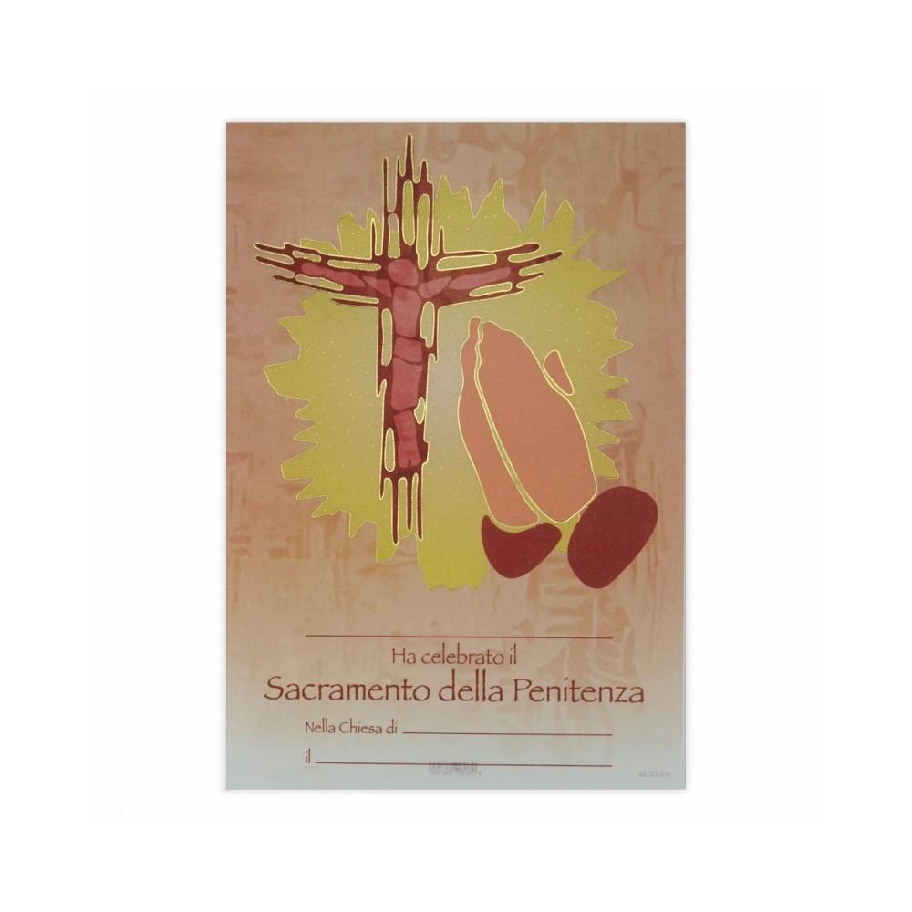Attestato Pergamena Prima Confessione