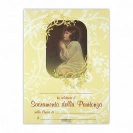 Pergamena Ricordo Confessione