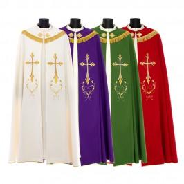 Piviale Ricamo Croce Stilizzata