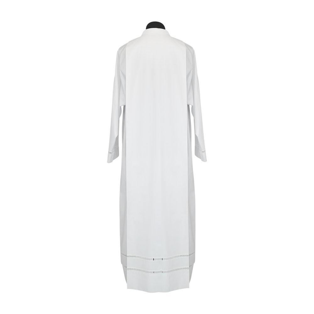 Camice liturgico bianco con ricamo tramezzo Gigliuccio