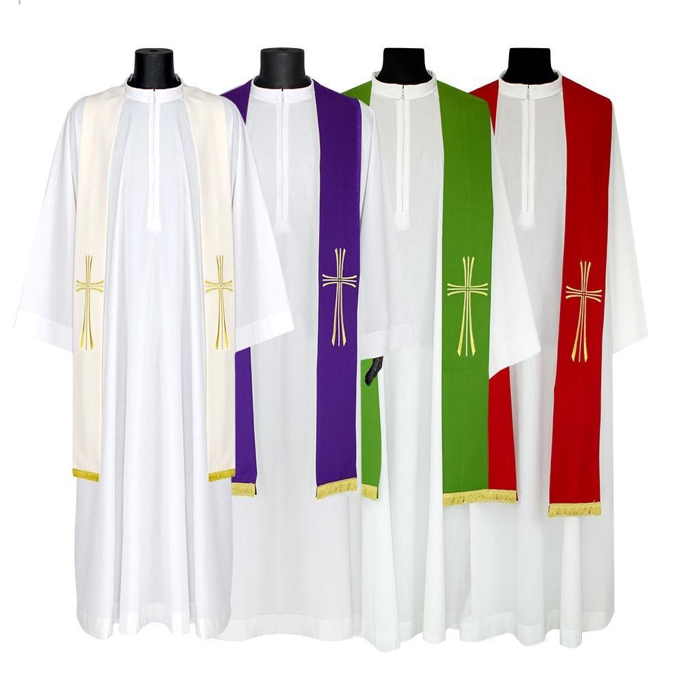 Stola Ricamo Croce Stilizzata