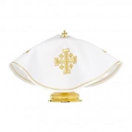 Copri Pisside con Ricamo Croce di Gerusalemme