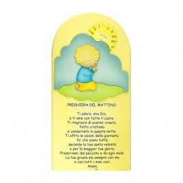 Quadretto con Preghiera del Mattino