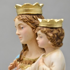 Madonna del Rosario resina cm. 28,5