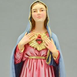 Sacro Cuore di Maria resina cm. 27