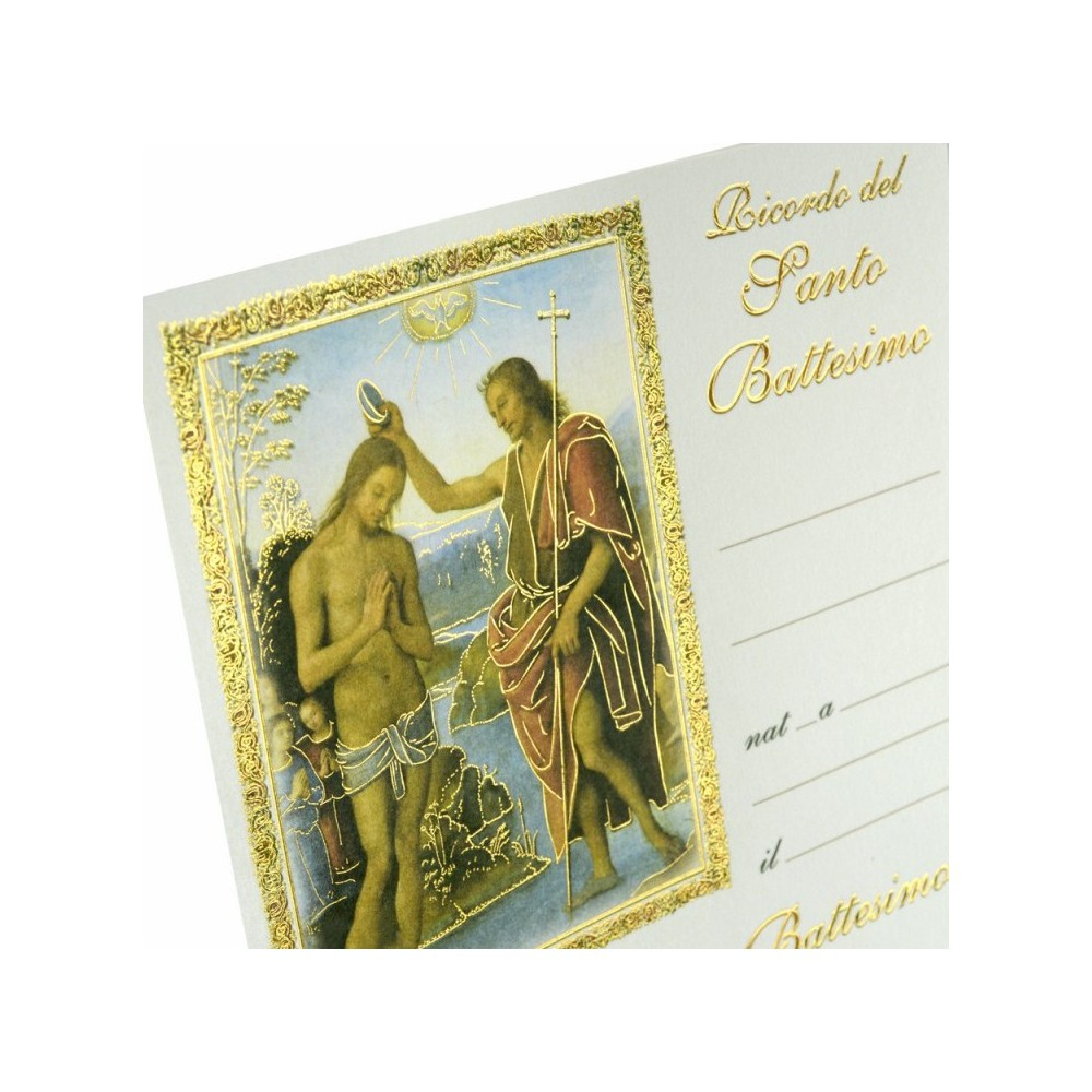 Pergamena Battesimo