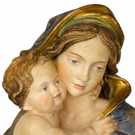 Madonna con Bambino Legno Antichizzato