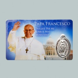Card Plastificata Papa Francesco