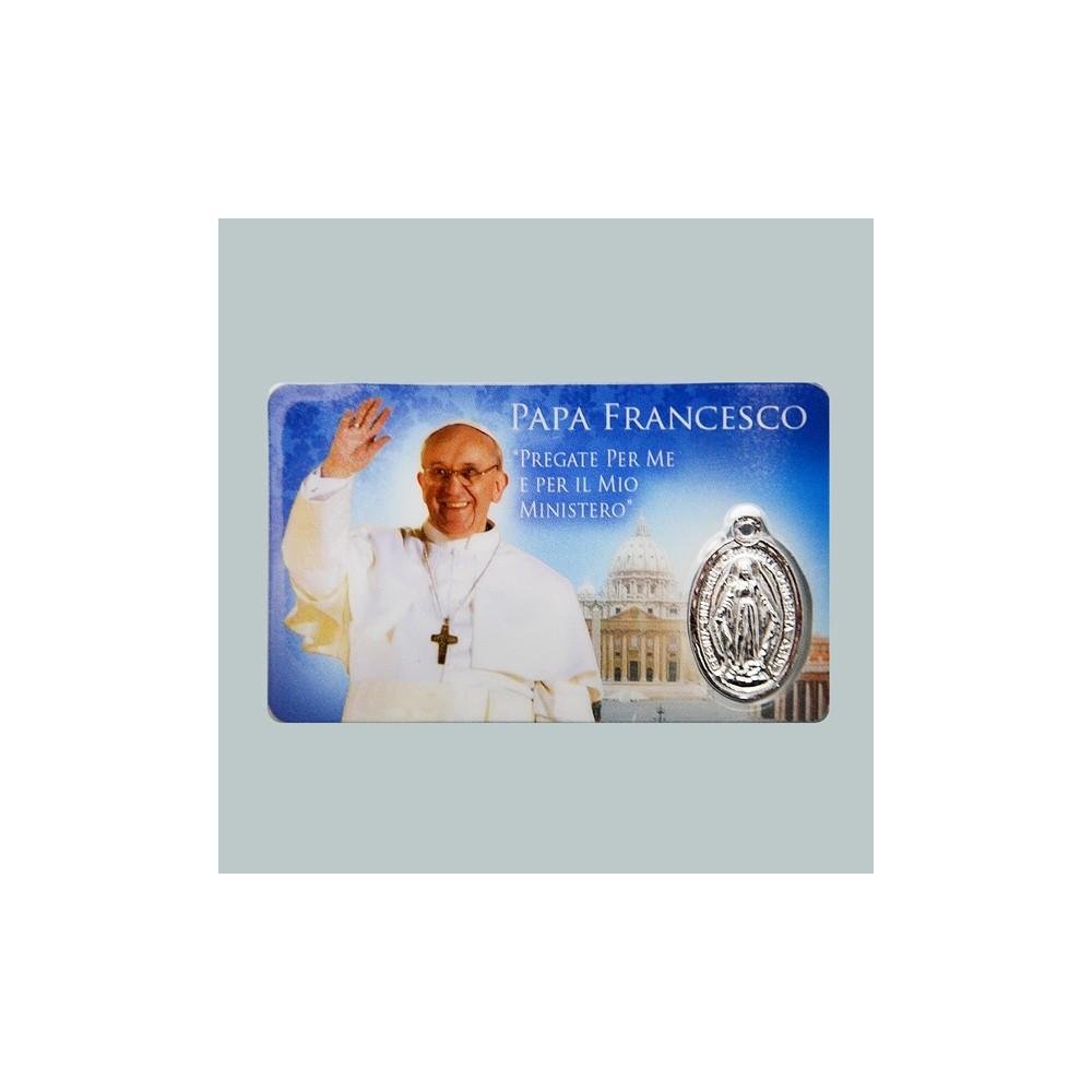 Card Plastificata Papa Francesco