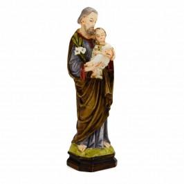 San Giuseppe con giglio cm 14,5