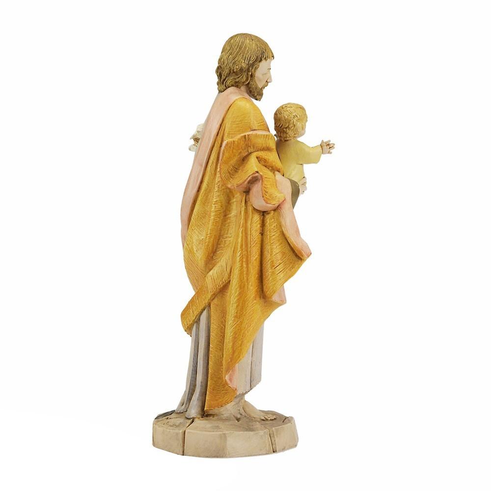 Statua San Giuseppe con Bambino Fontanini
