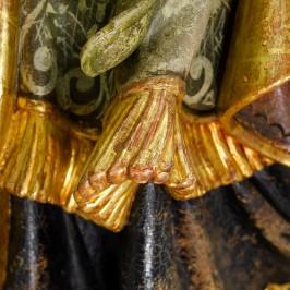 Statua San Urbano con Uva in Legno