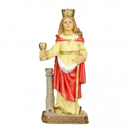 Statua Santa Barbara in Pvc