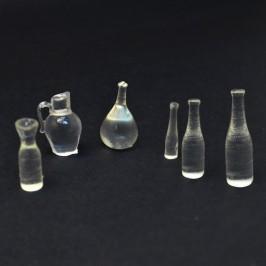 Set Bottiglie in Vetro per Presepe