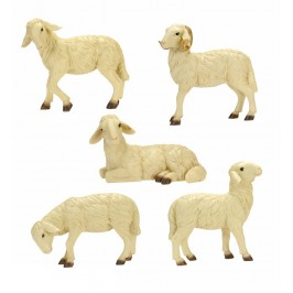 Gruppo 5 Pecore per Presepe