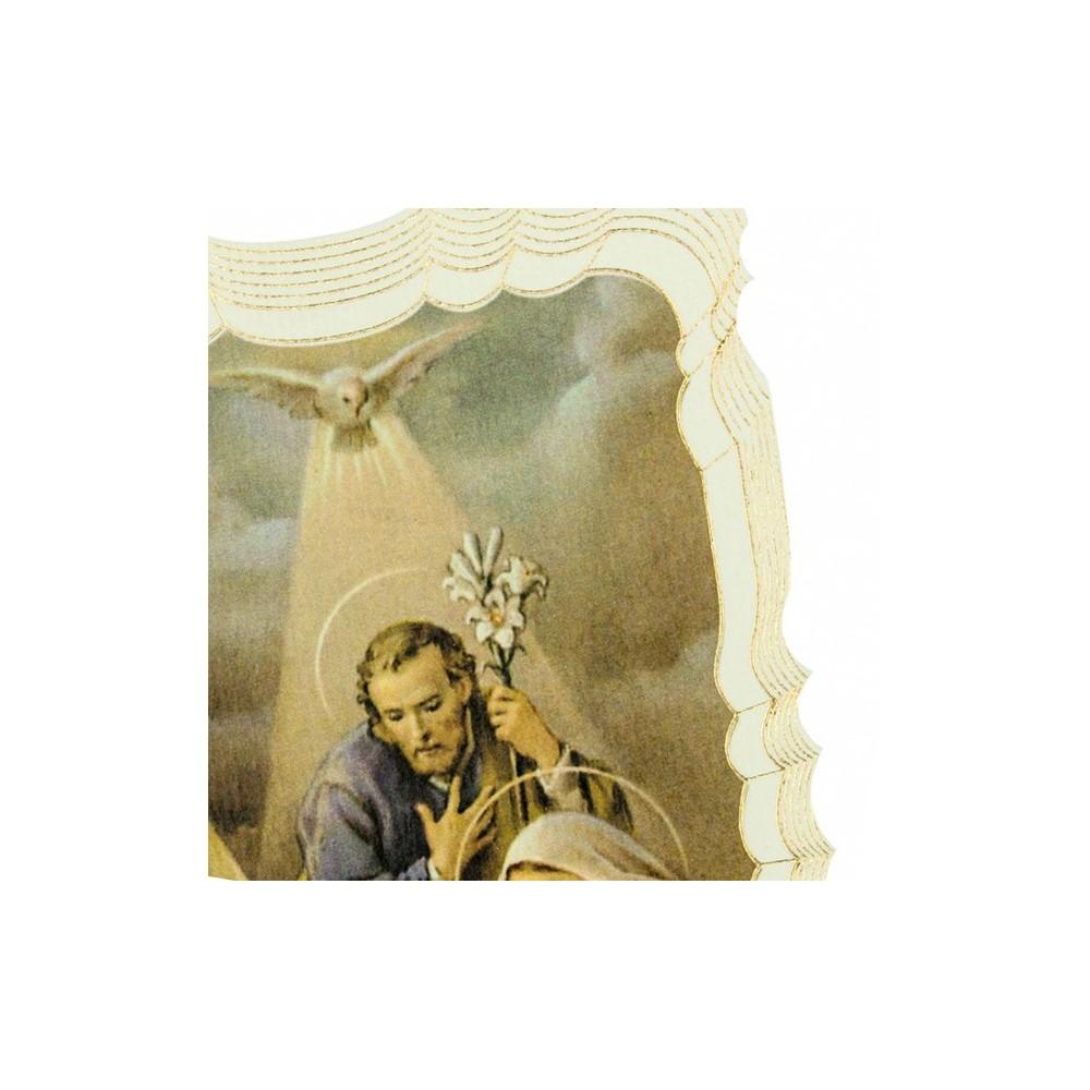 Immaginetta Sacra Famiglia con Angelo